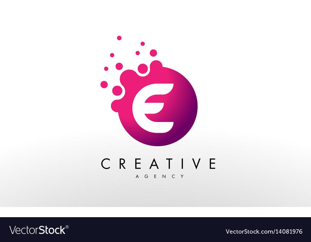 letter e logo e letter design royalty free vector image