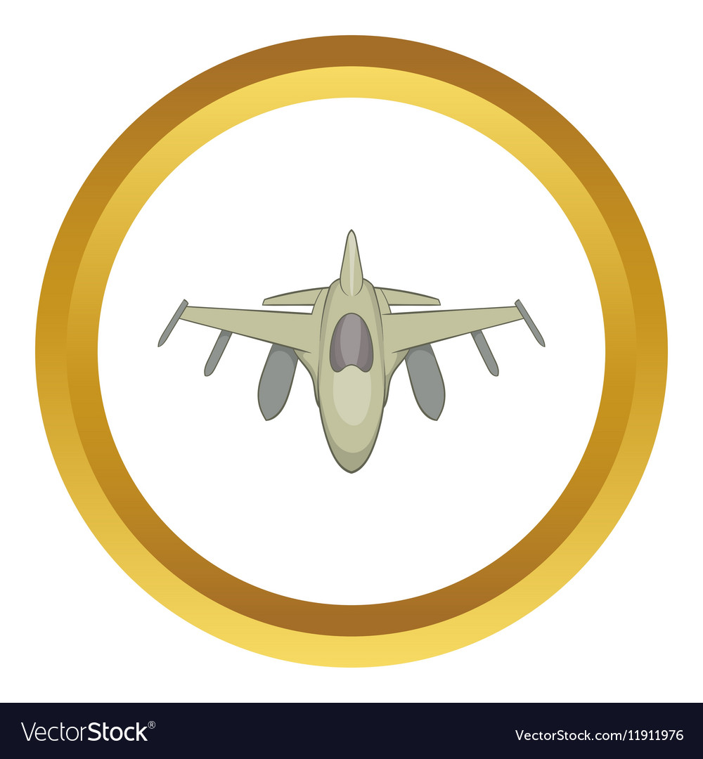 Military aircraft icon