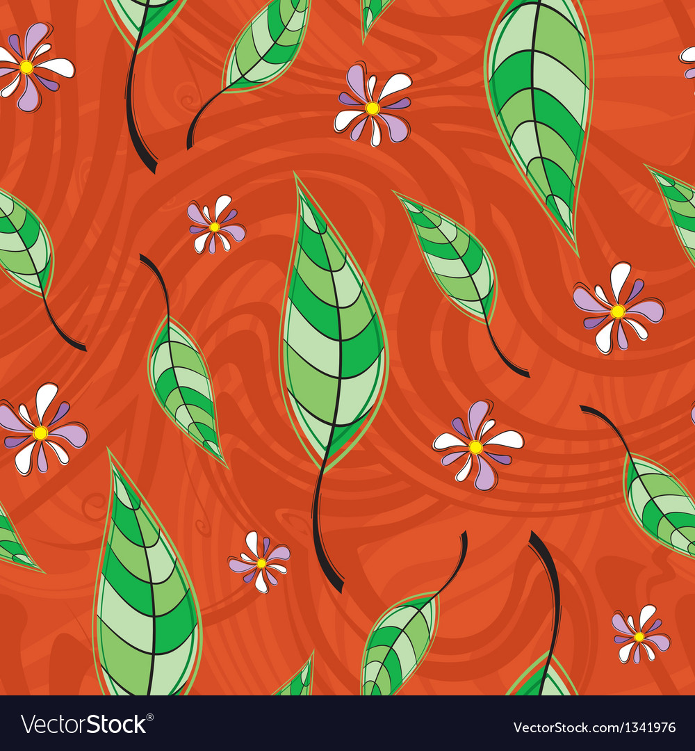 Pattern of leaves vector image