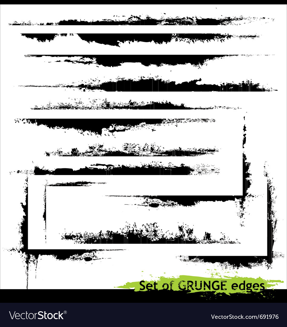 Set of grunge edges vector image