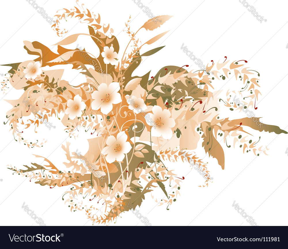 Autumn flowers vector image