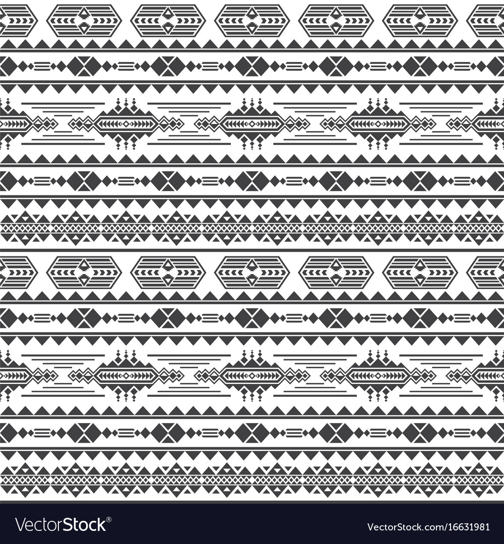 Aztec culture seamless pattern mexican