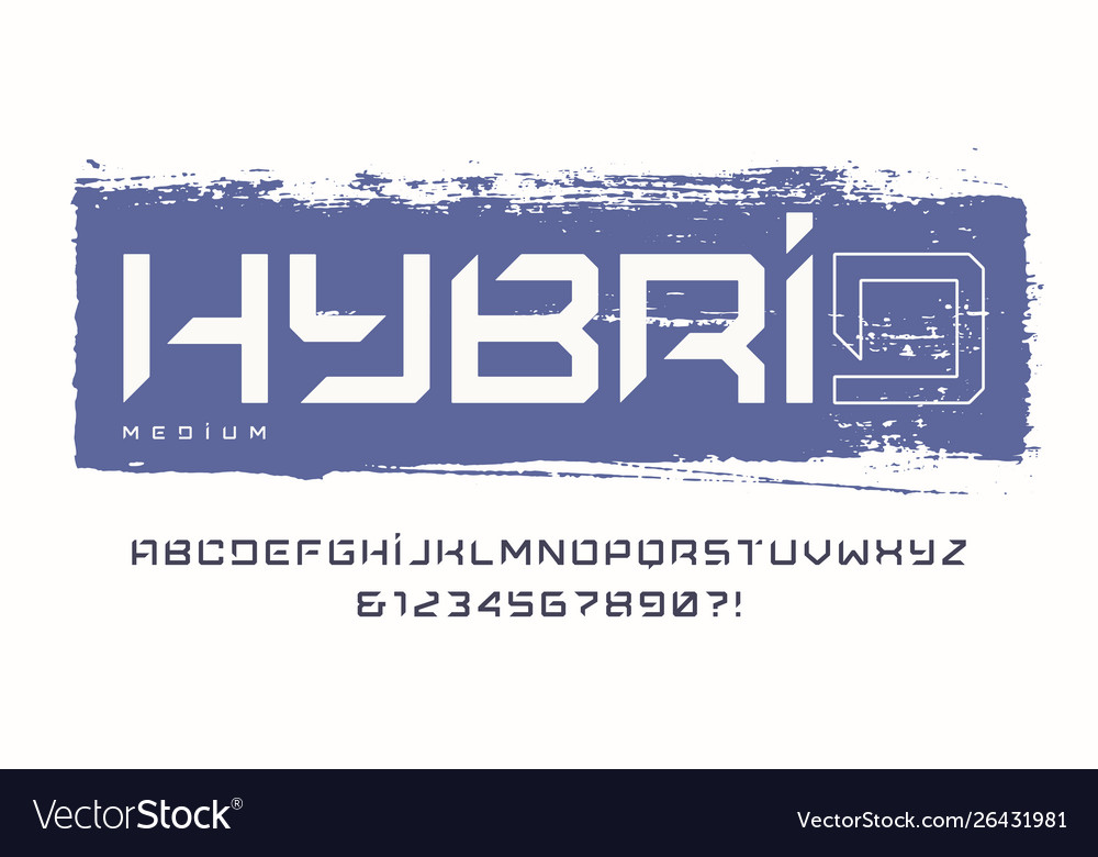 Cropped typography uppercase letters and
