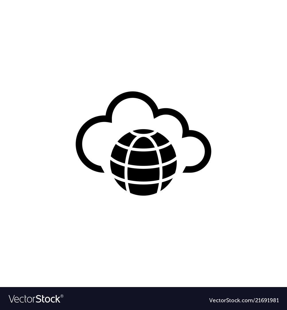 Internet cloud technology global web net flat