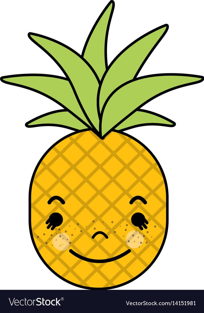 Kawaii Cute Happy Pineapple Vegetable