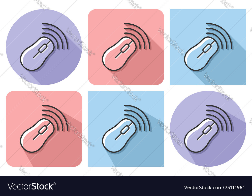Outlined icon of wireless mouse with parallel and