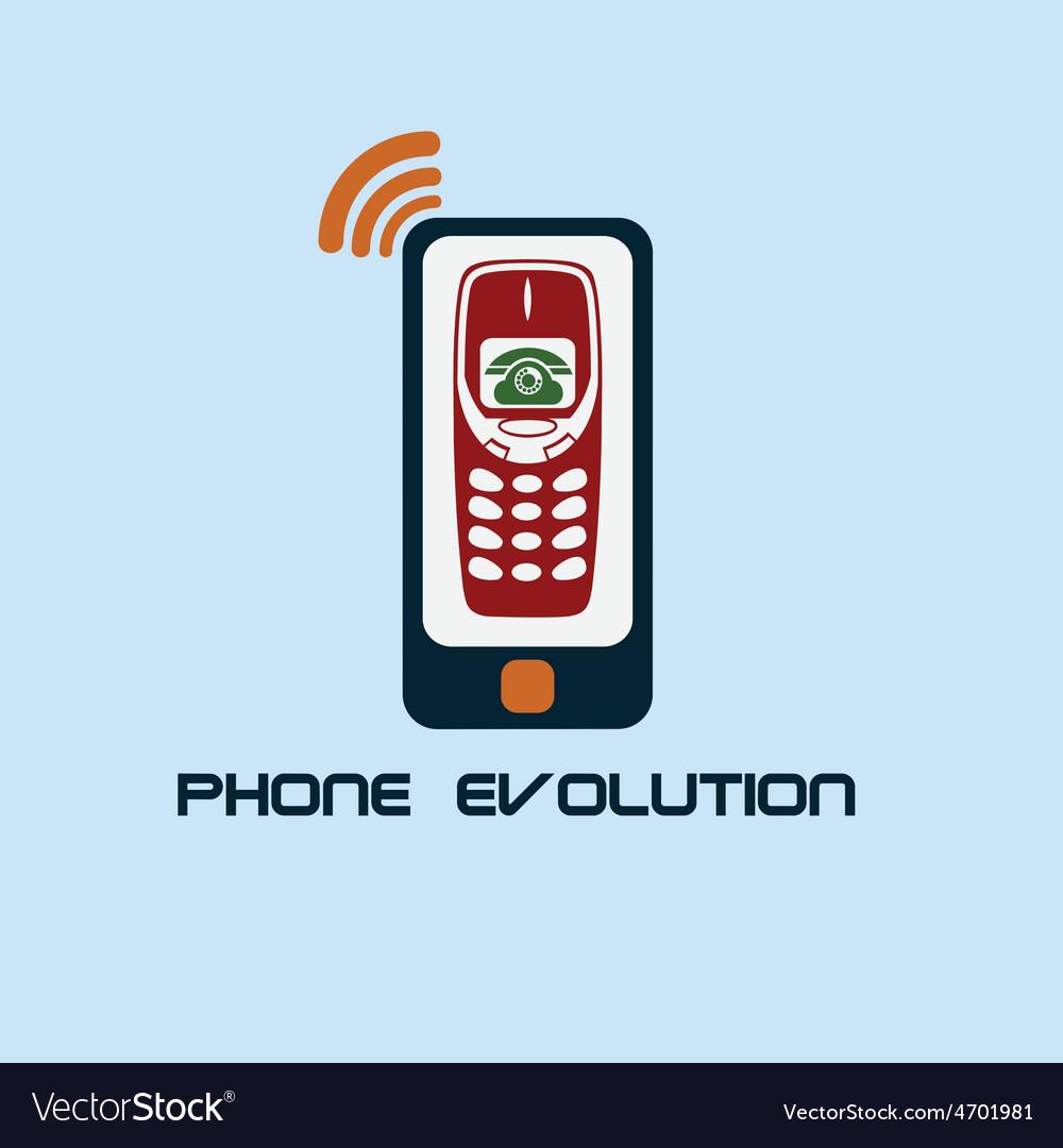 Phone evolution flat design vector image