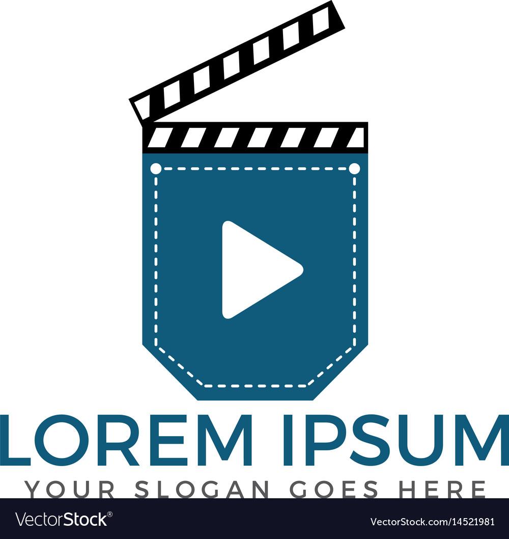 Pocket cinema logo design