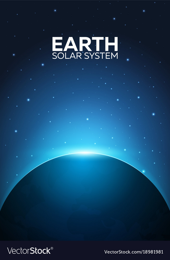 Poster planet earth and solar system space
