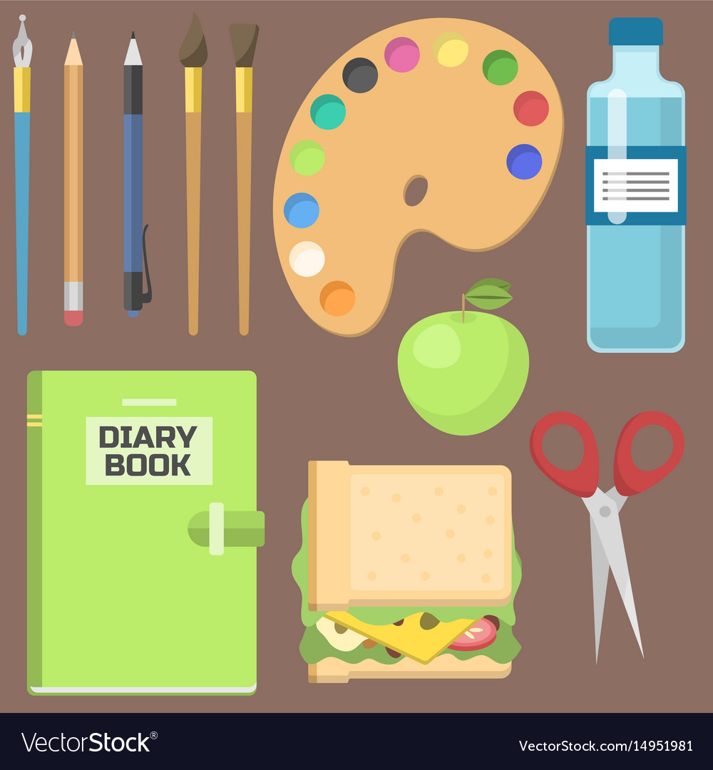 School supplies children stationary educational