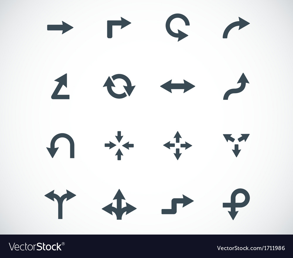 Black icon arrows icons