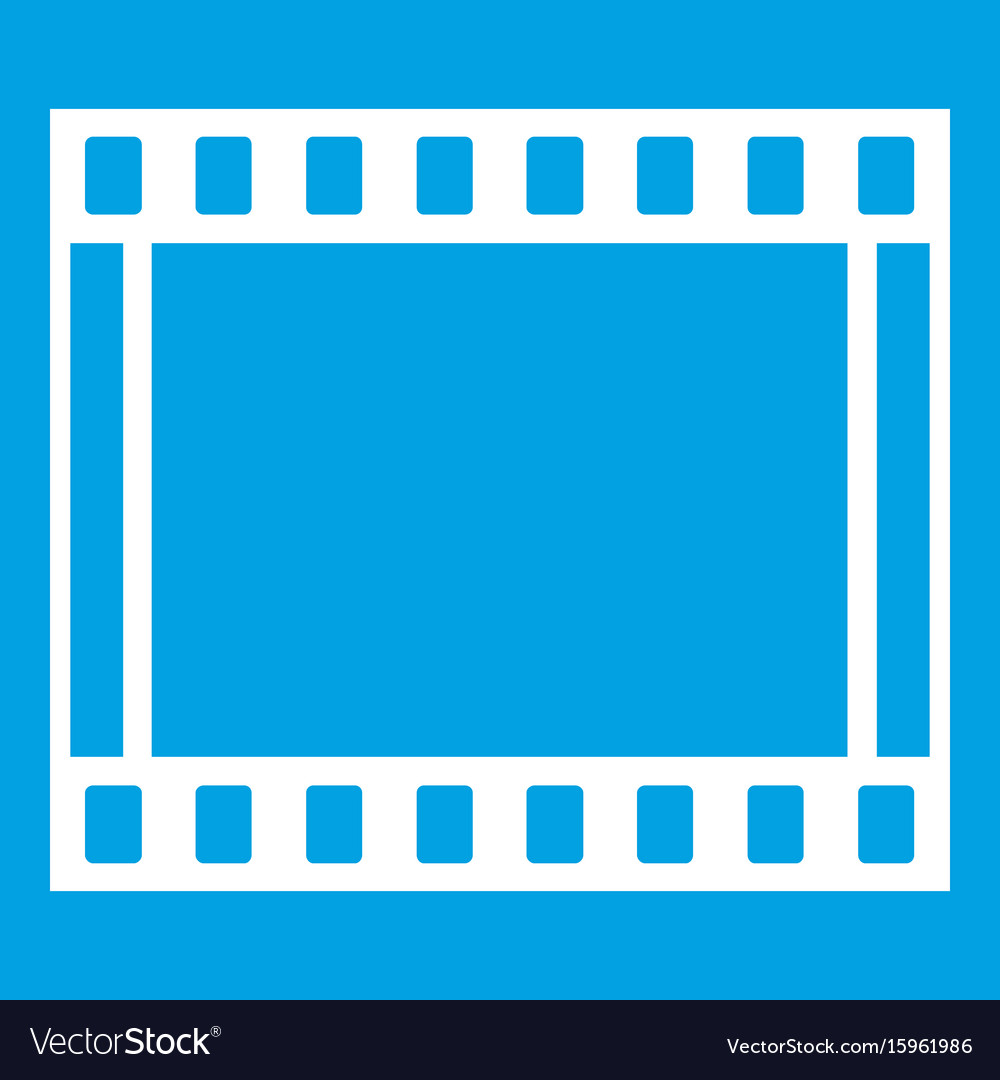 Film with frames movie icon white Royalty Free Vector Image