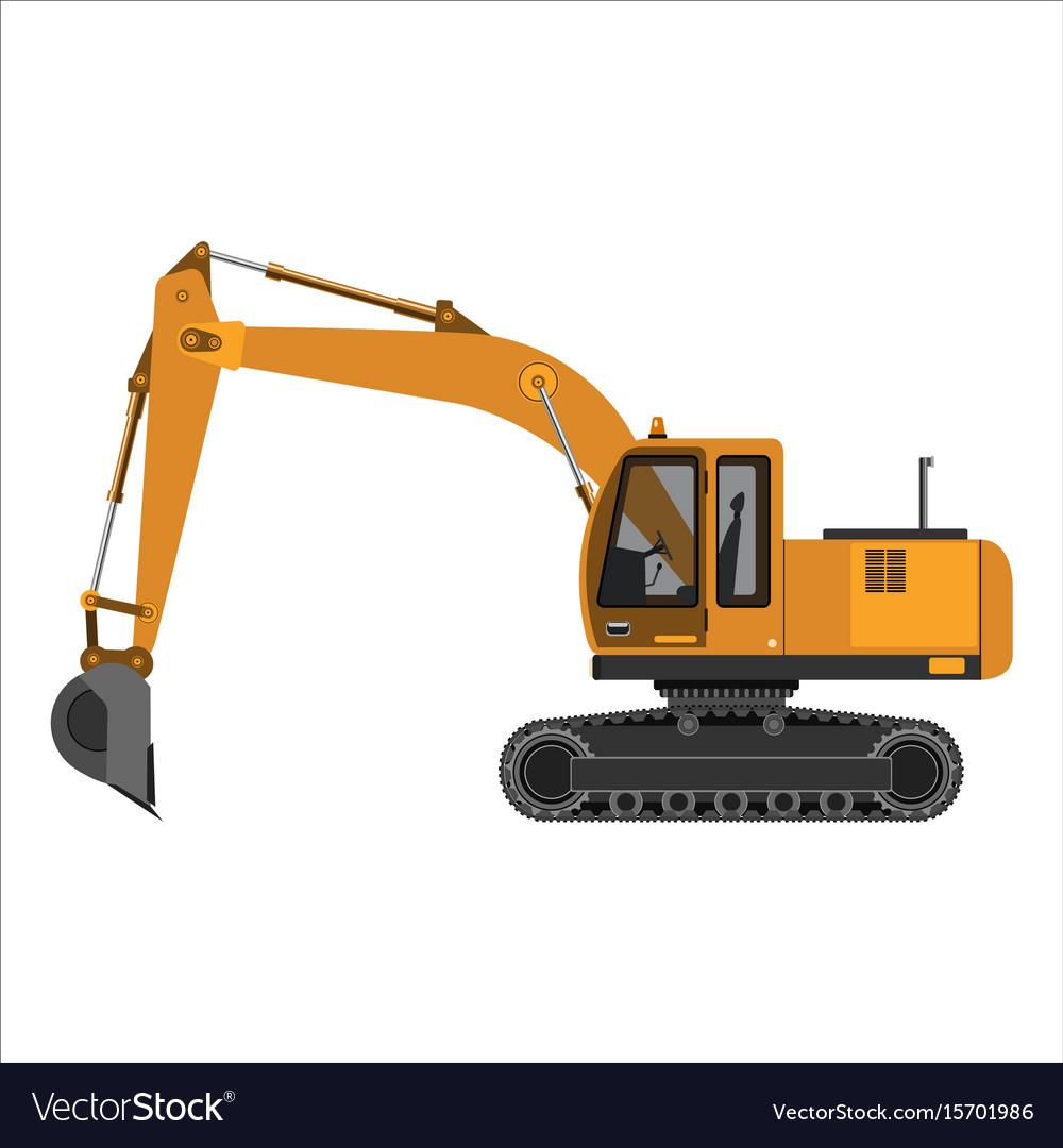 Powerful excavator crawler