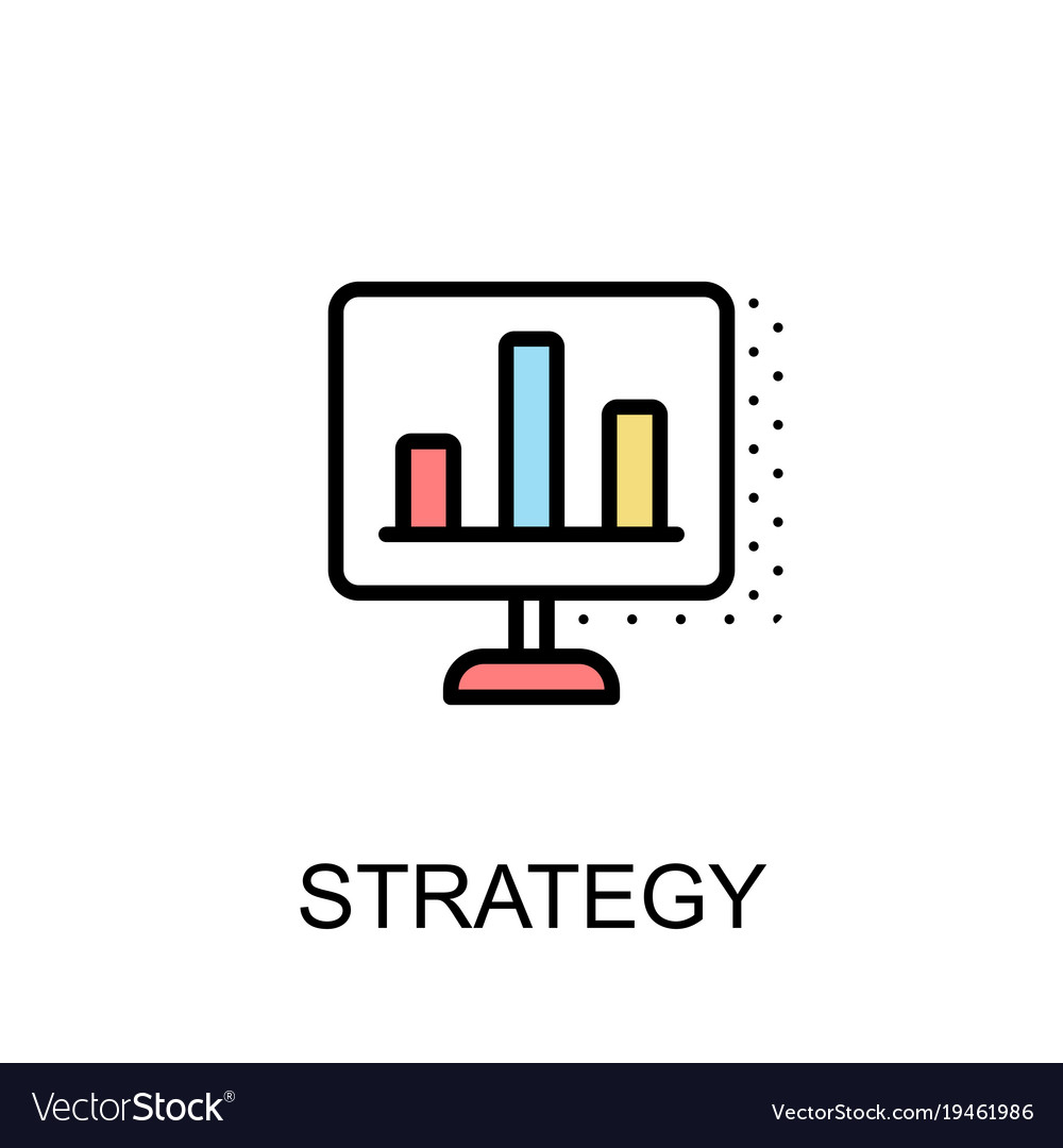 Pricing Strategy Icon: Strategy Icon Isolated Background With Royalty Free Vector