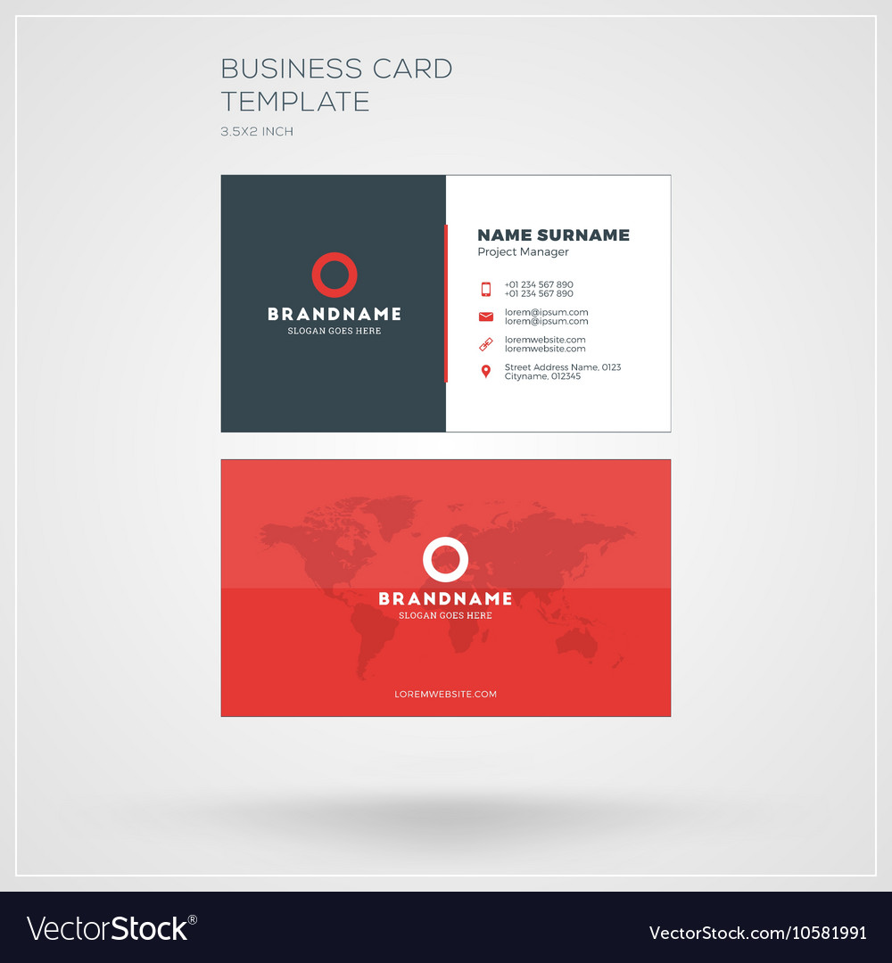 Business card print template personal visiting vector image fbccfo Choice Image