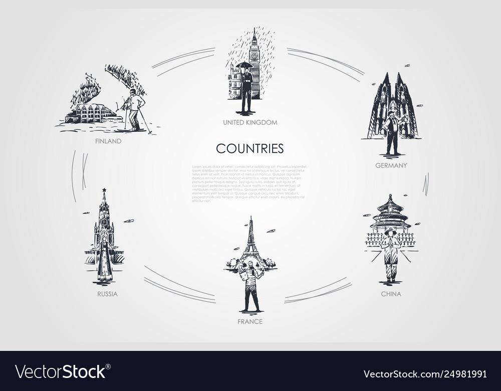 Countries - finland united kingdom germany