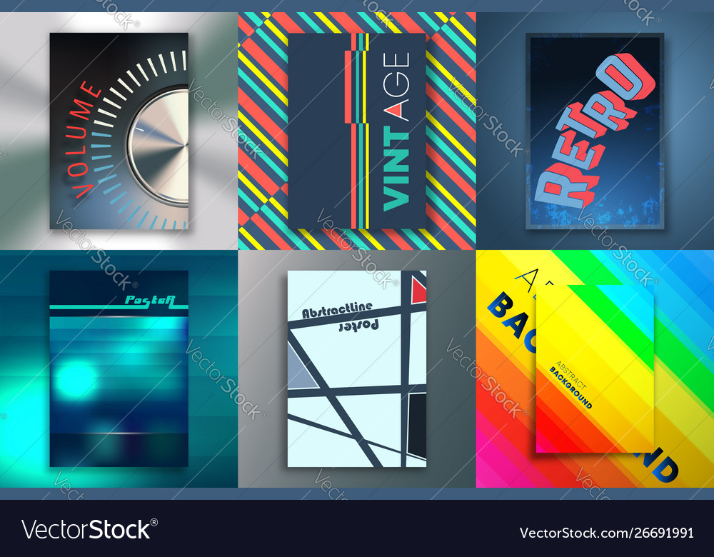 Set backgrounds with abstract design