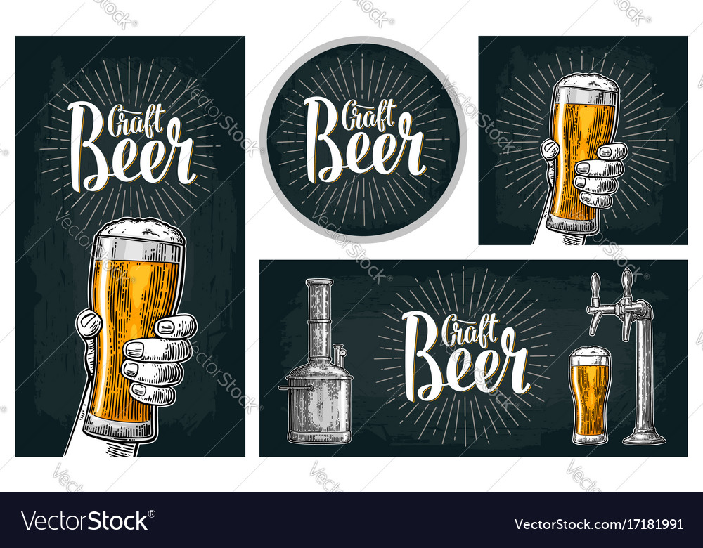 Set horizontal vertical posters and coaster for