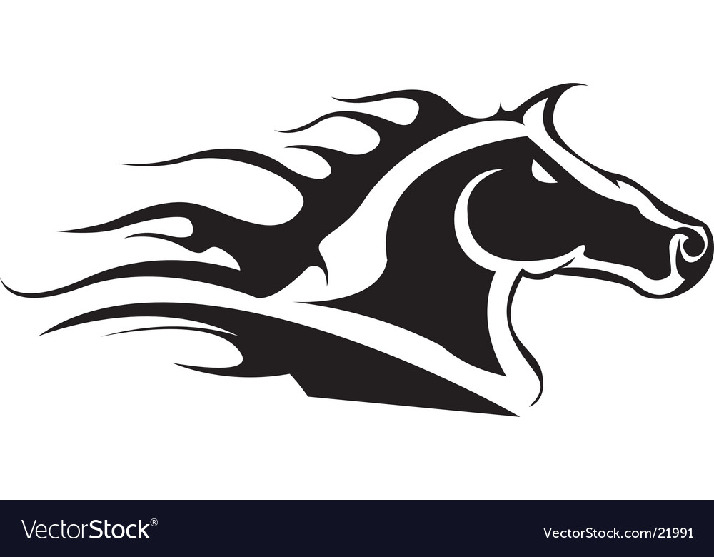 tribal horse head royalty free vector image vectorstock rh vectorstock com horse head vector clipart horse head vector front