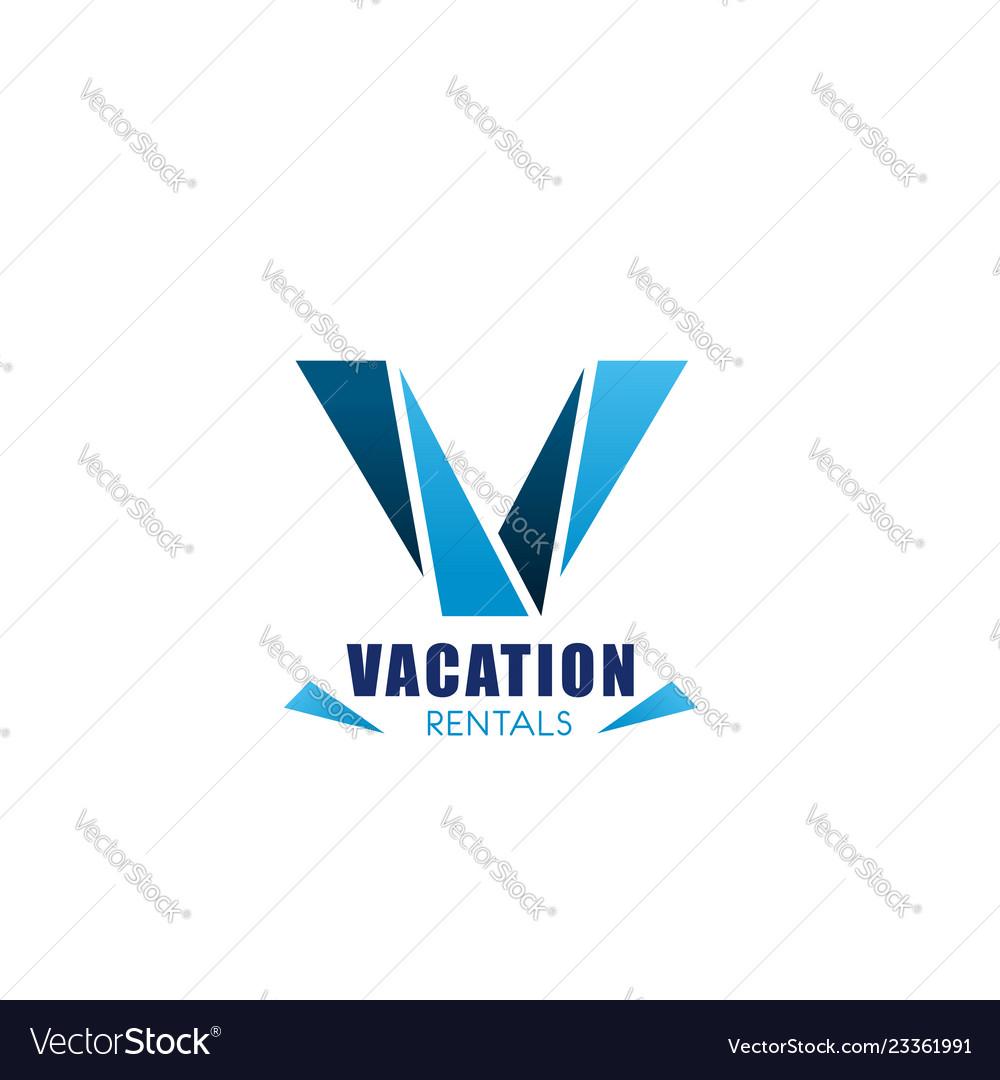 Vacation rentals icon real estate agency design