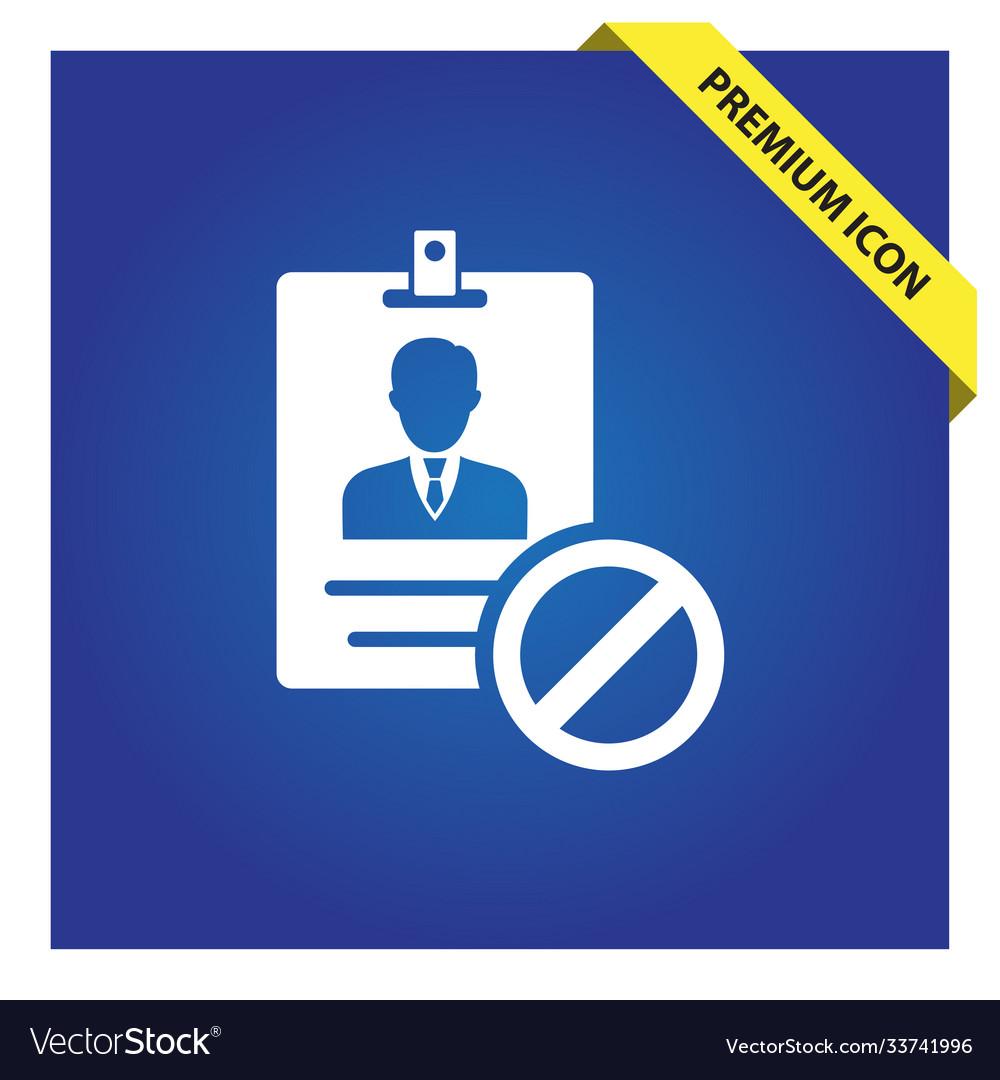 Block id card icon