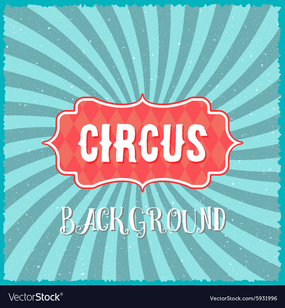 Circus Vintage Swirl Sunburst Lines Background vector image
