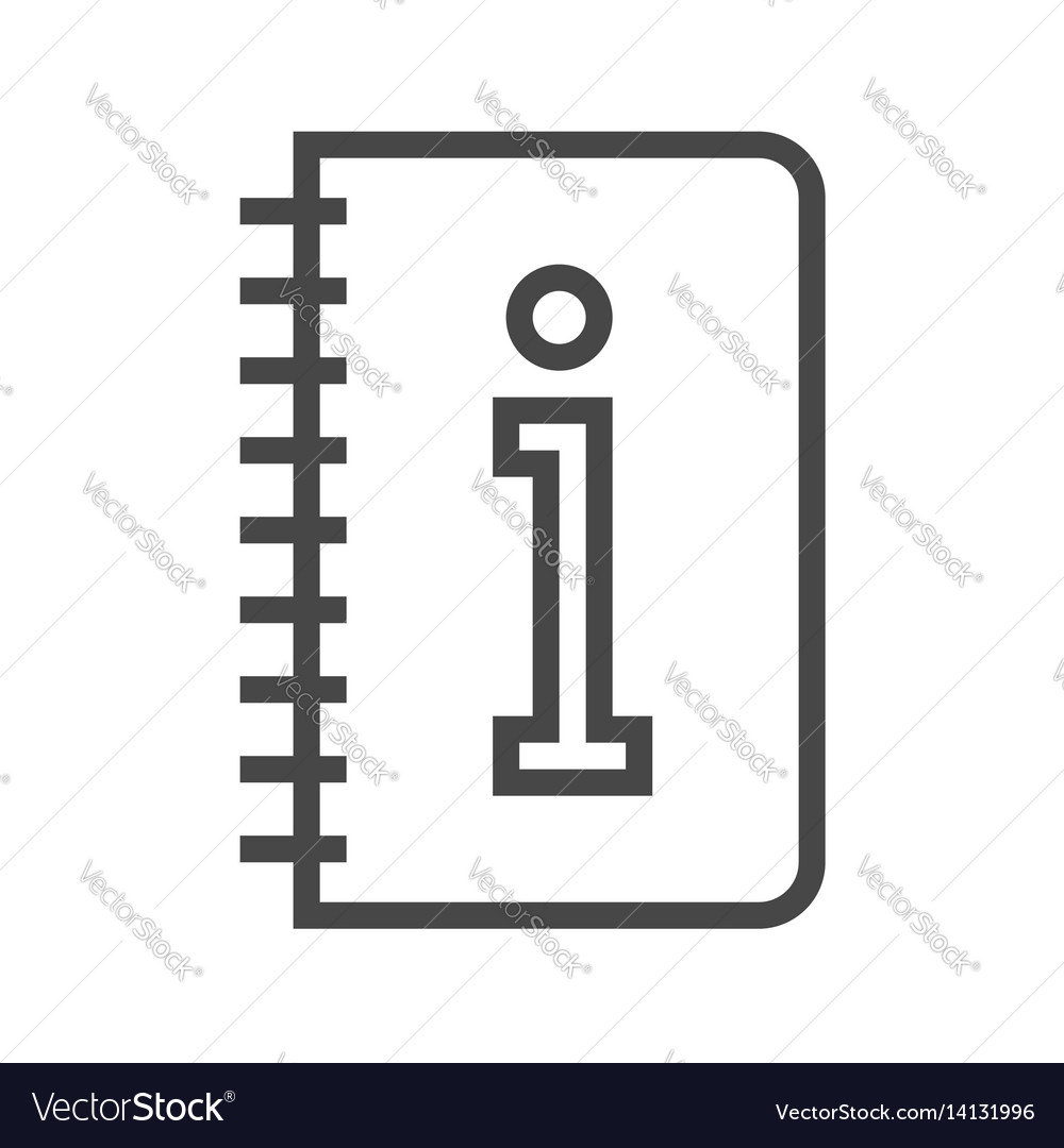 Instruction book thin line icon vector image