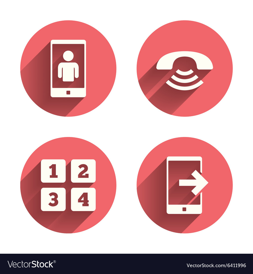 Phone icons Call center support symbol vector image on VectorStock