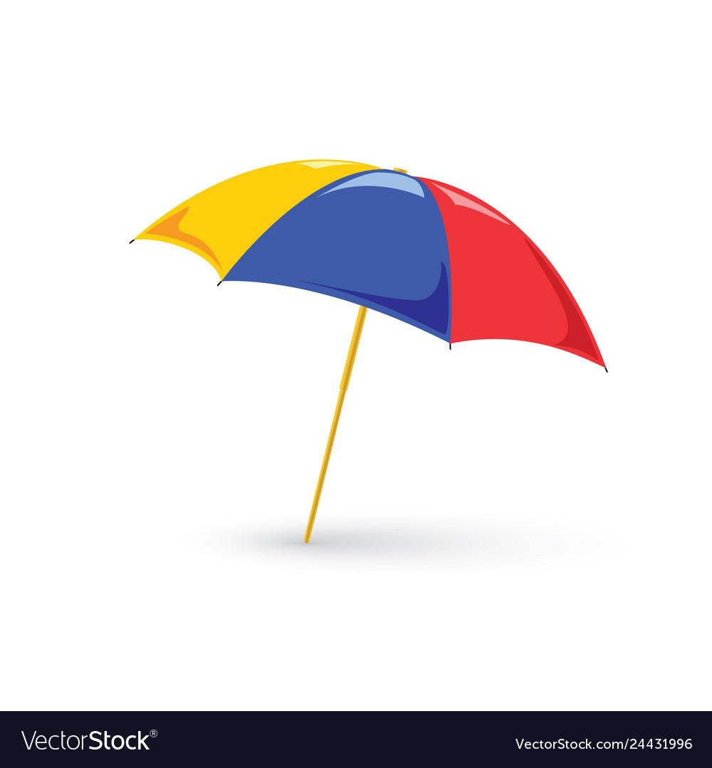 Red beach umbrella holiday