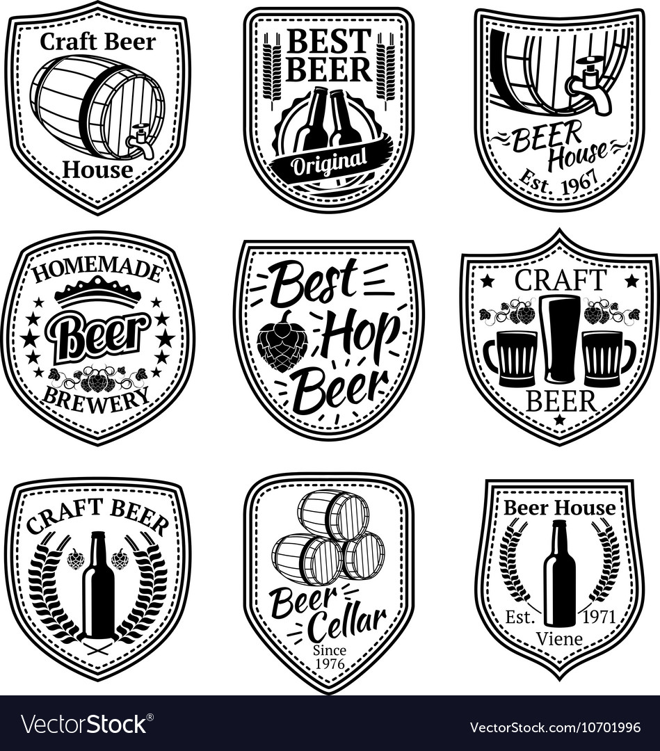 Set of badges for beer and brewery business