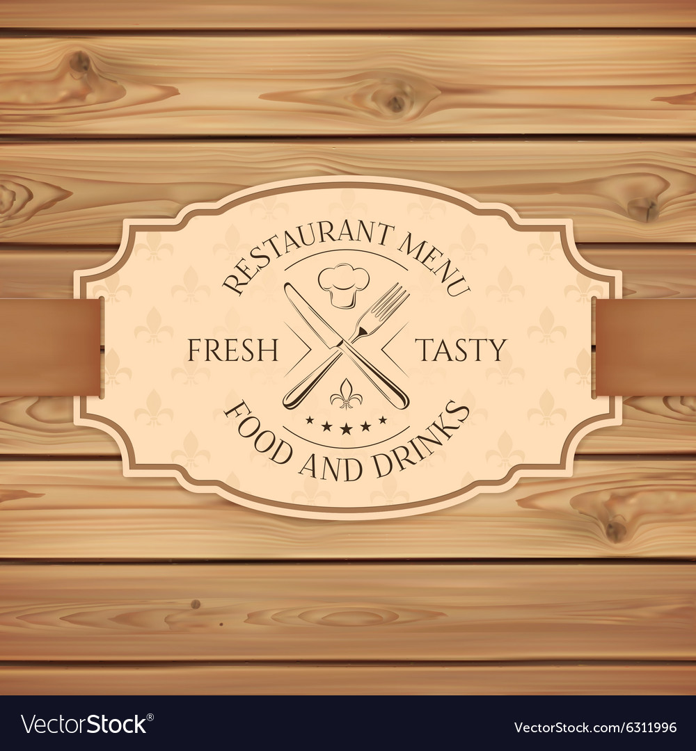 Vintage restaurant menu board template Royalty Free Vector