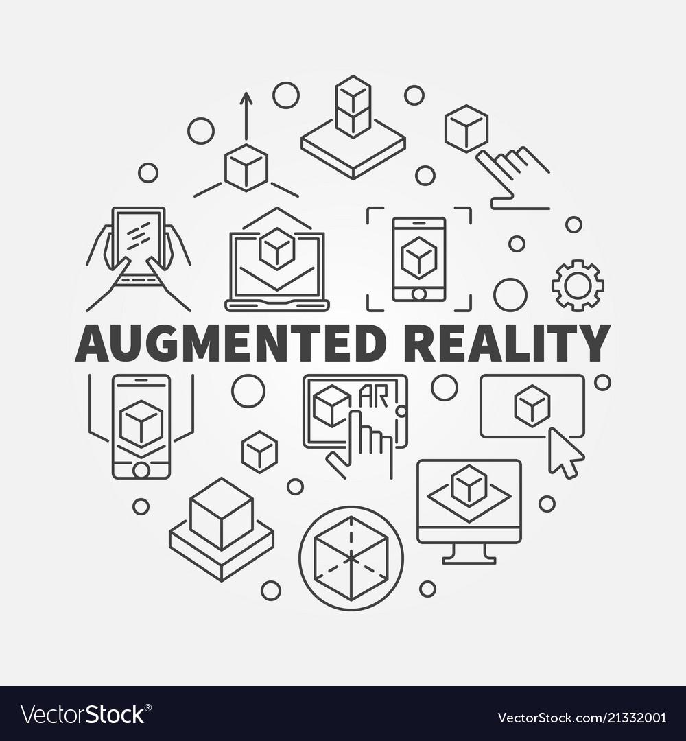 Augmented reality circular concept ar