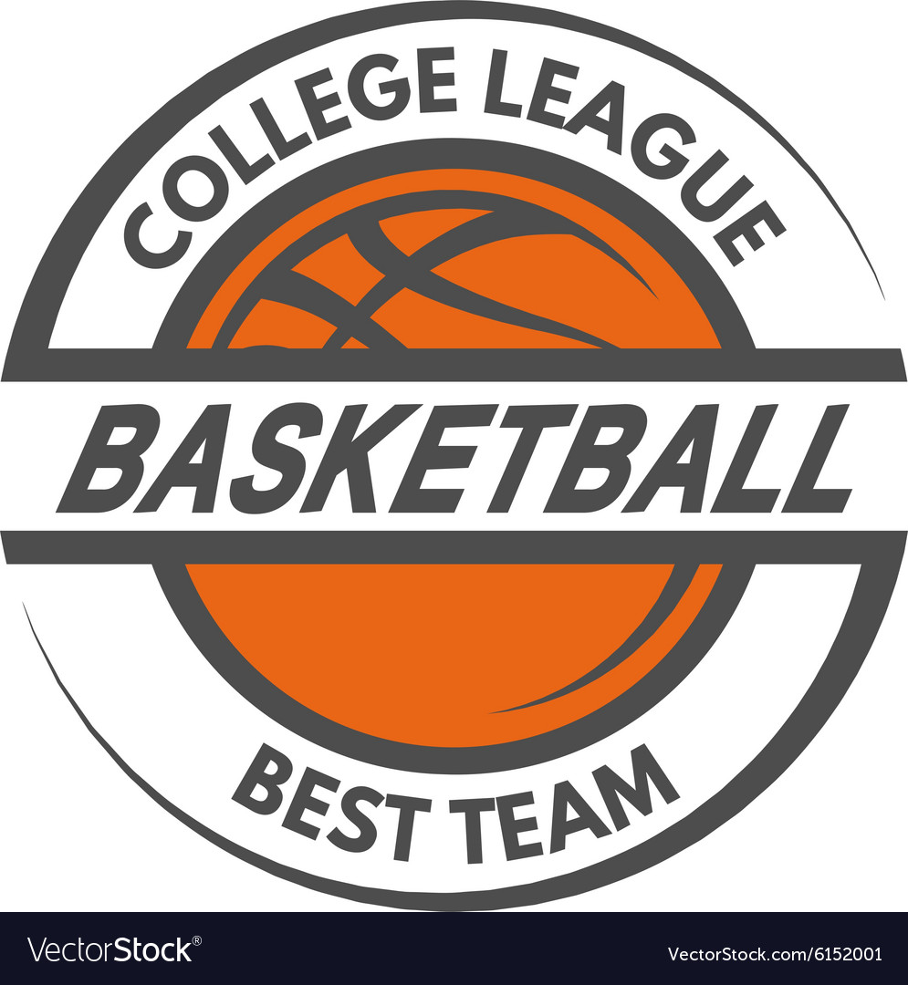 Basketball template logo badge emblem
