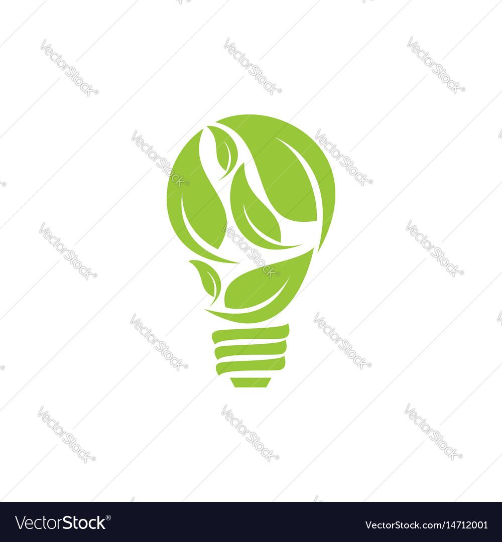 Bulb leaf logo