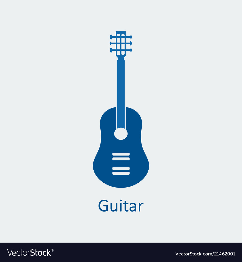 Colored guitar icon silhouette icon