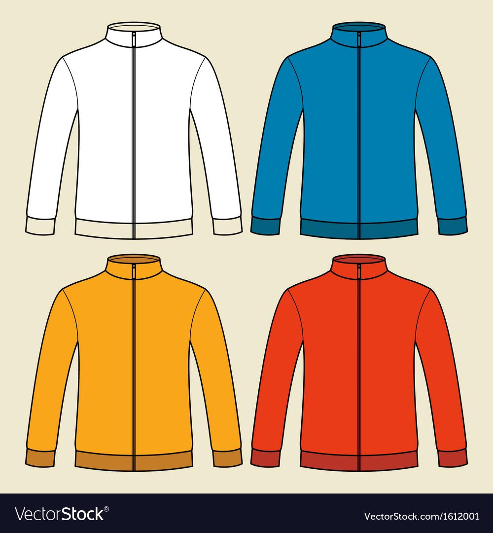 Colorful sweatshirts template