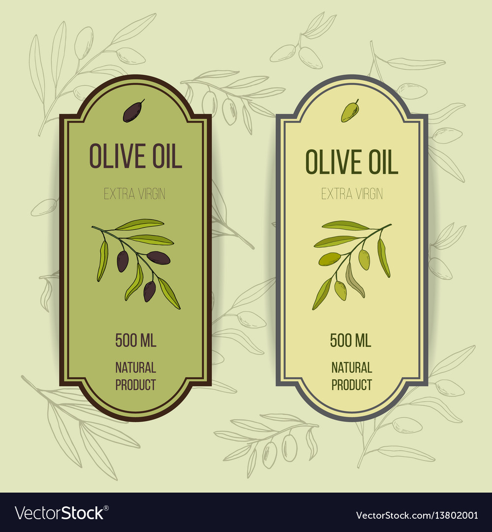 Olive oil label template Royalty Free Vector Image