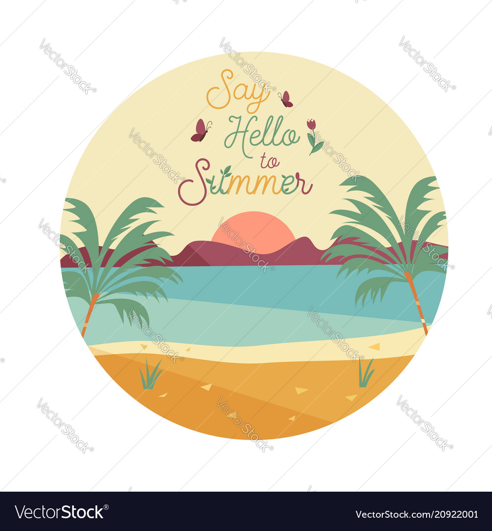 Say hello to summer poster banner