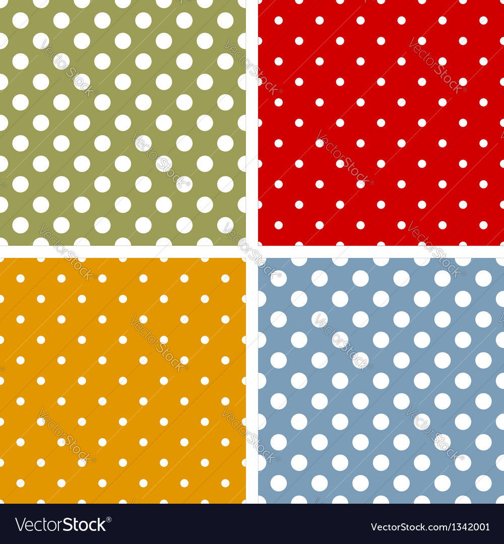 Seamless patterns with polka dots