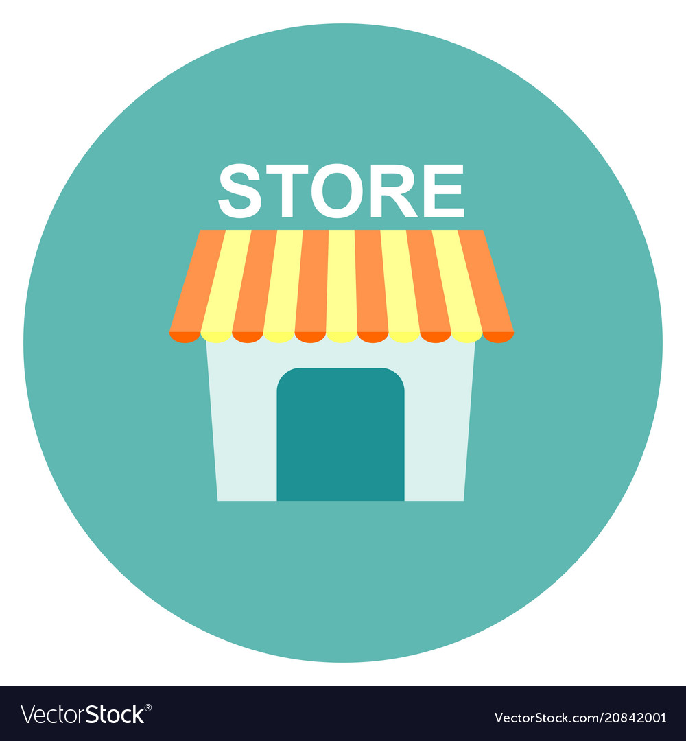 store icon flat isolated on white royalty free vector image