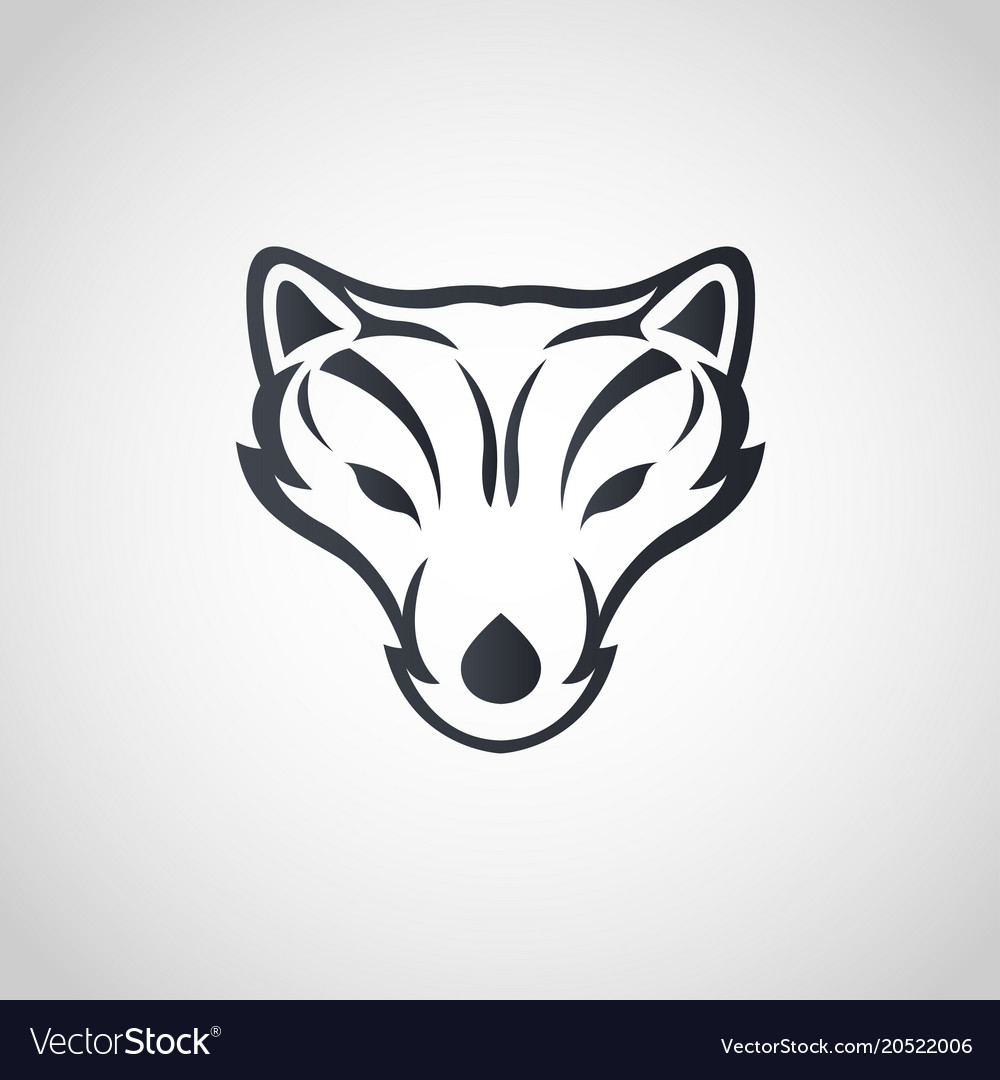 Contour Clipart - Arctic Fox Silhouette , Free Transparent Clipart -  ClipartKey
