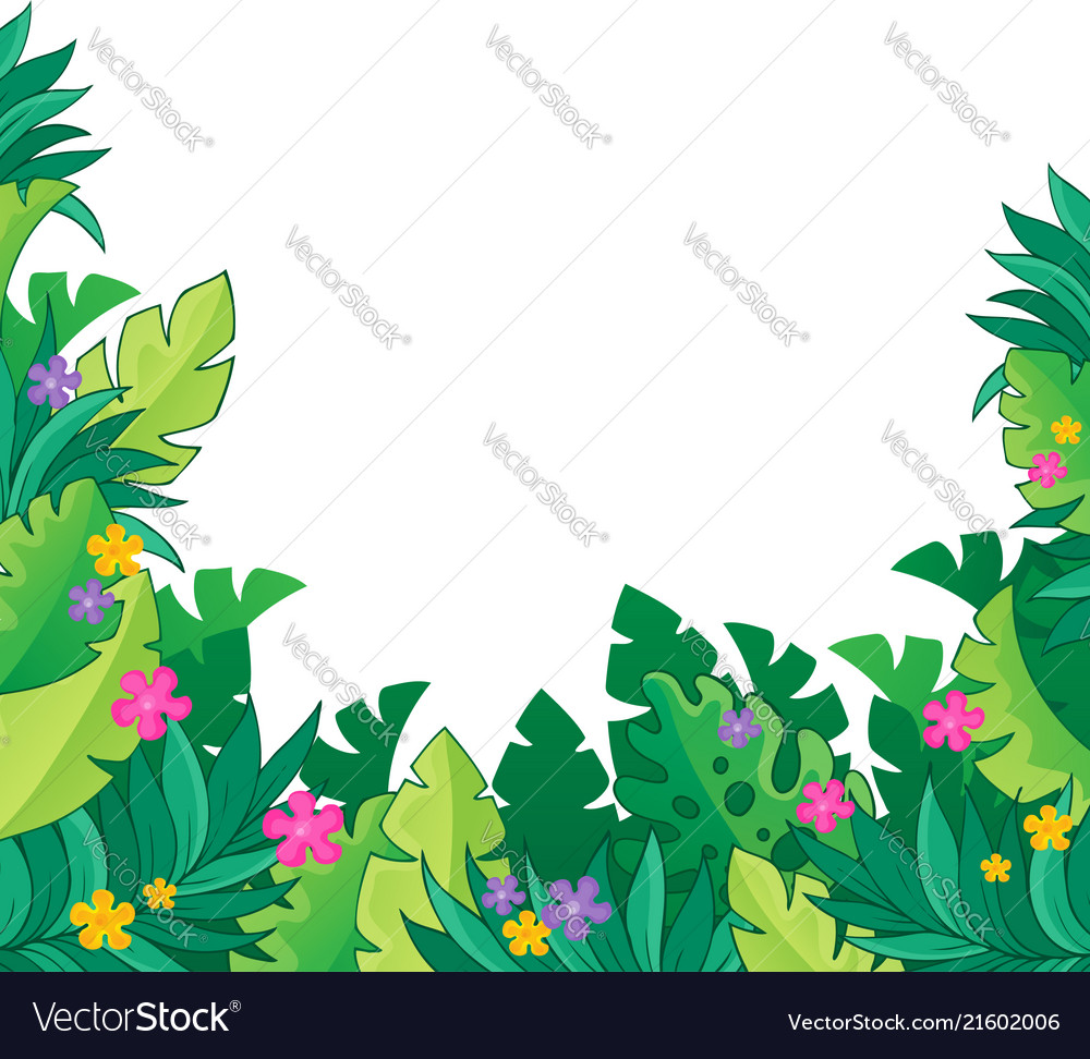 Theme Jungle image with jungle theme 7 royalty free vector image