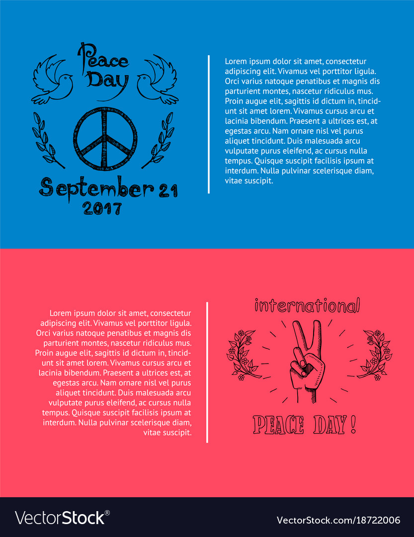 Set of posters for international peace day