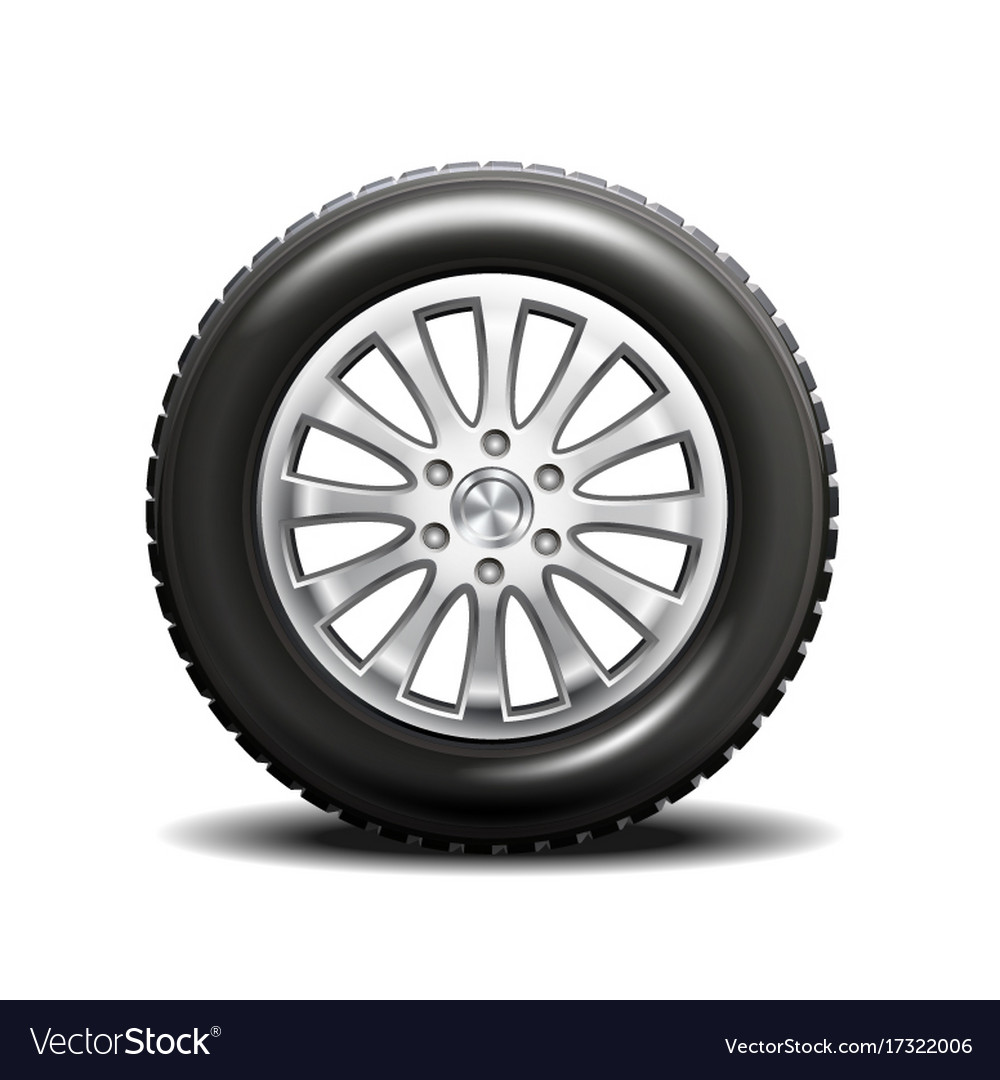 Car Tire Completely Flat, Single Car Tire Vector Image, Car Tire Completely Flat