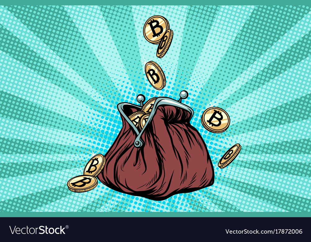 Wallet with bitcoin crypto currency and
