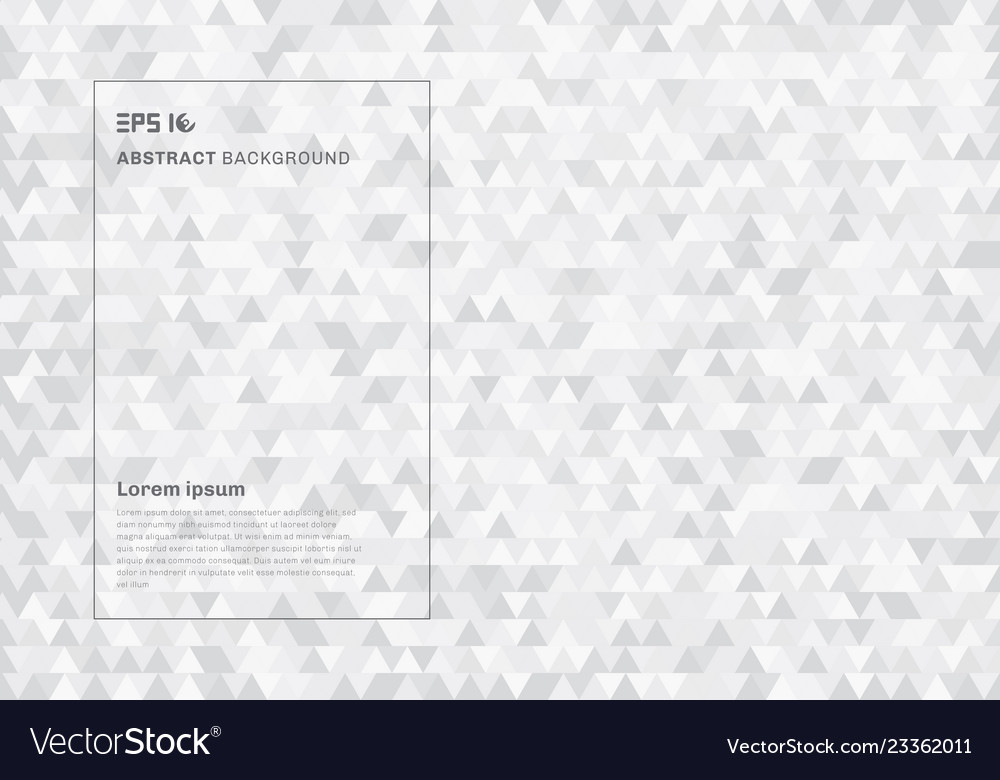 Abstract white geometric hipster triangles