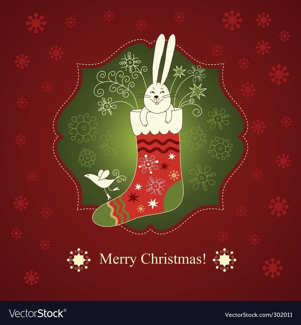 Рисунок животных, открытки года кролика