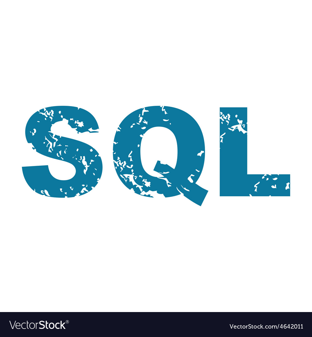 Grunge SQL icon vector image