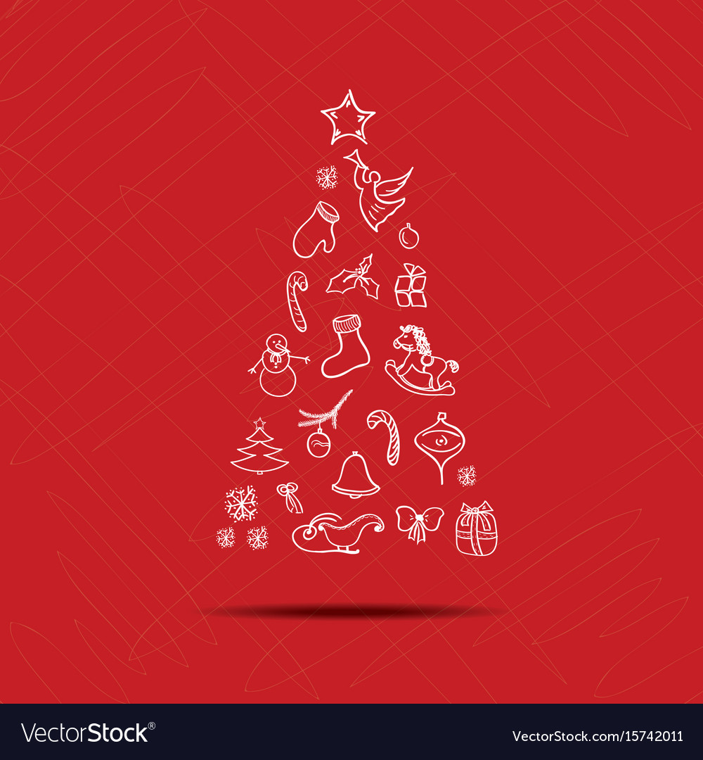 Happy new year greeting card with christmas