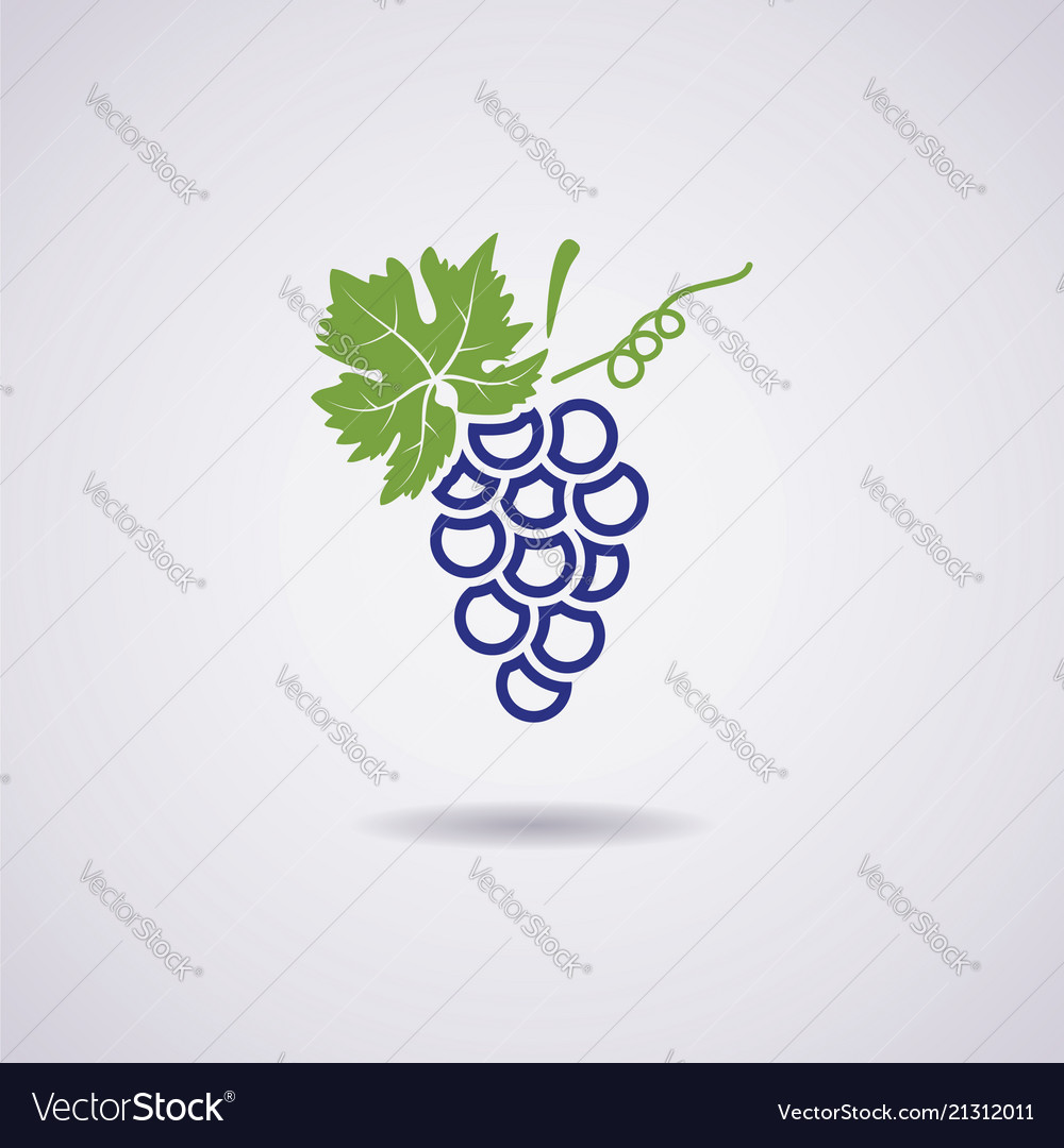 Icon of blue grapes